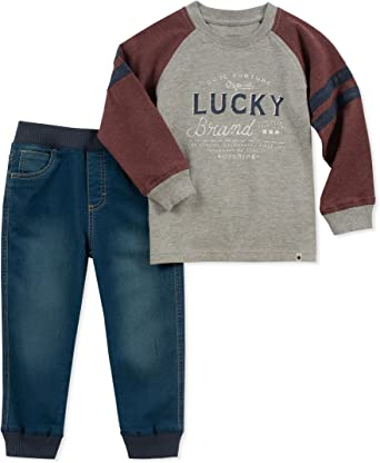 Amazon.com: Lucky Sets Toddler Boys' 2 Pieces Pant Set: Clothing