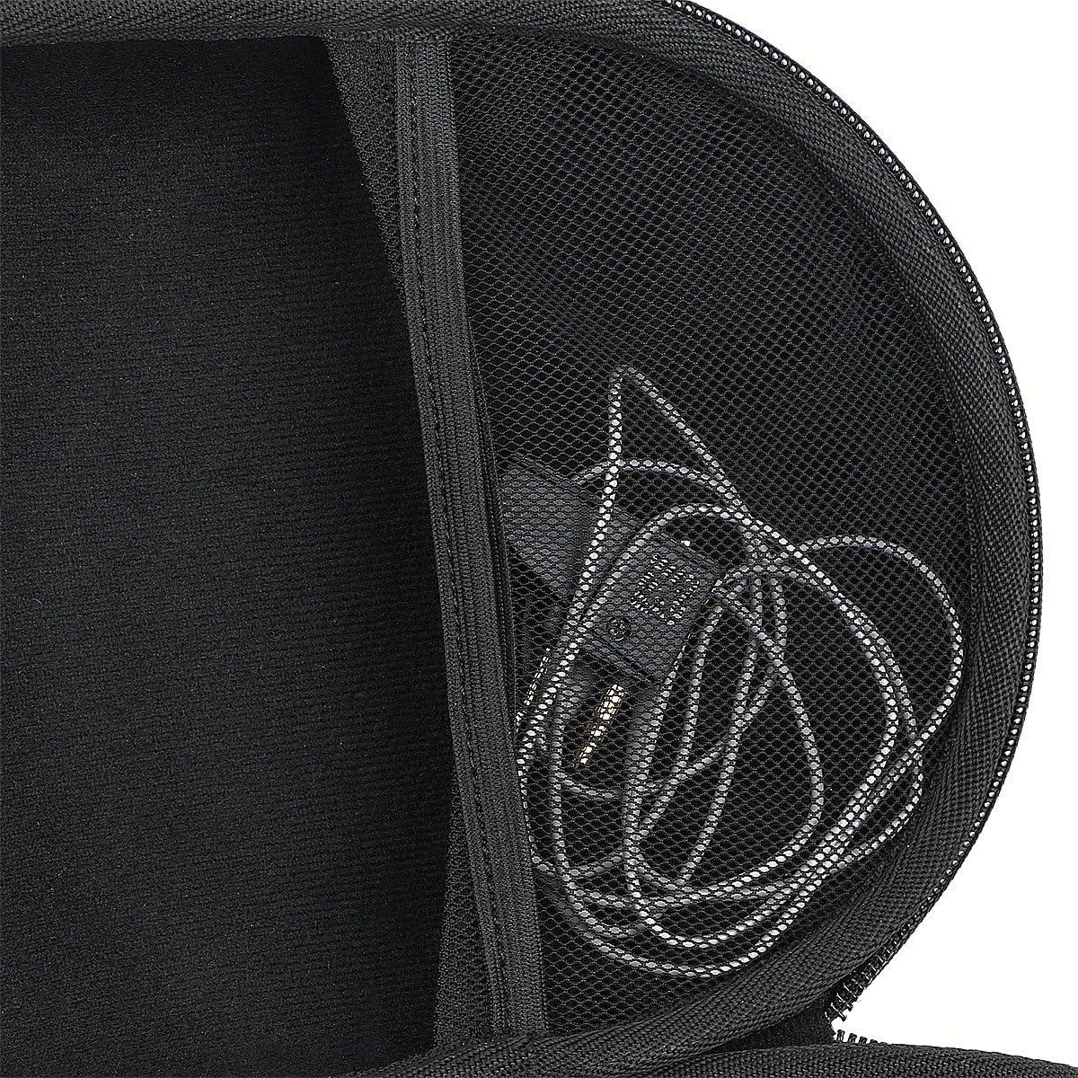 Khanka Hard Travel Case Replacement for Audio-Technica ATH M50 M40X M50X M30x M50xMG Professional Studio Monitor Headphones Headset Headphone black2