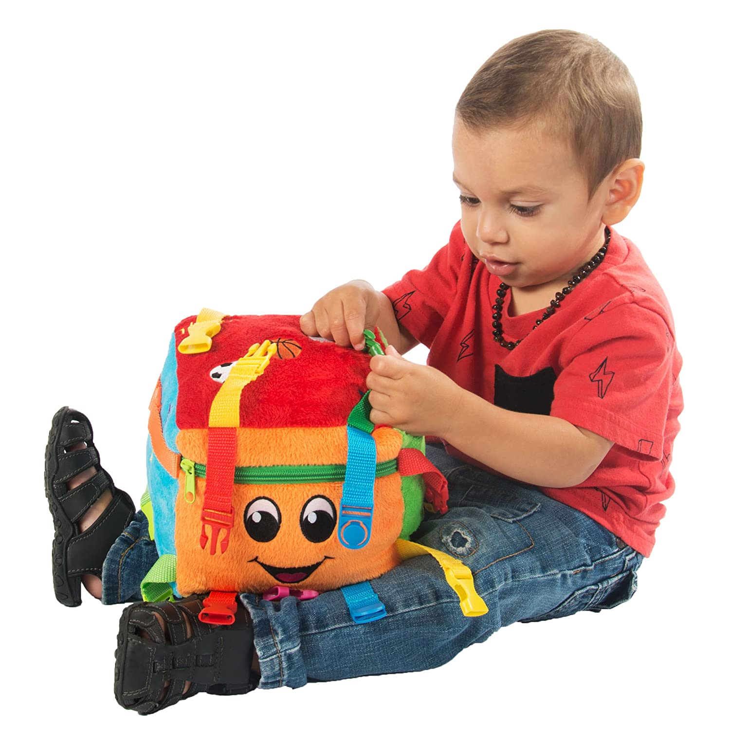 "BUCKLE TOY ""Bingo"" Activity Cube Toddler Early Learning Basic"