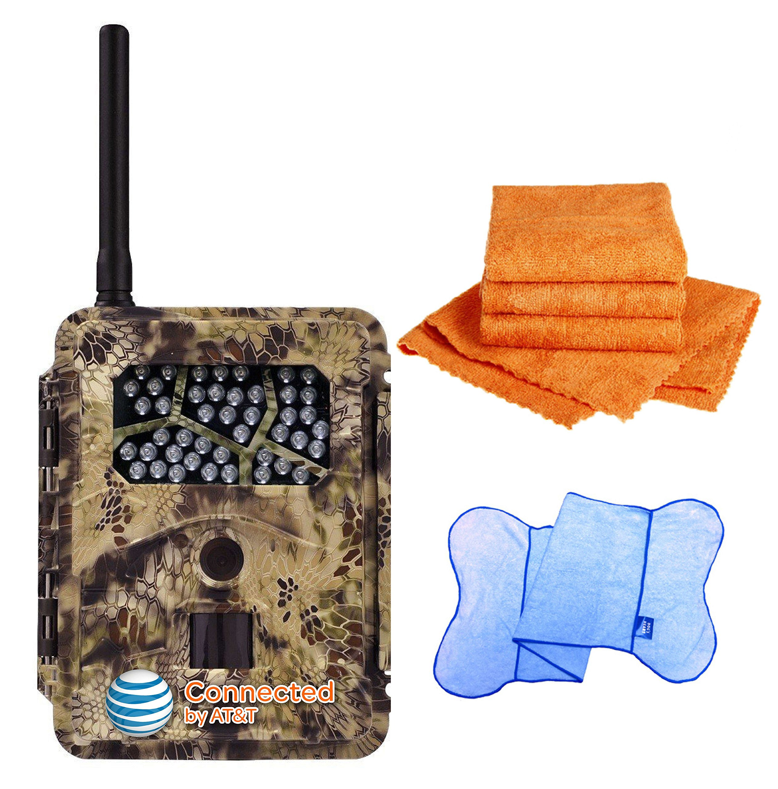 Spartan HD GoCam (AT&T Version, Model#GC-ATTi) 3G Wireless, Infrared (2-year warranty) - Bonus Package Bundled with UTowels Edgeless Microfiber Towels by Spartan (Image #1)