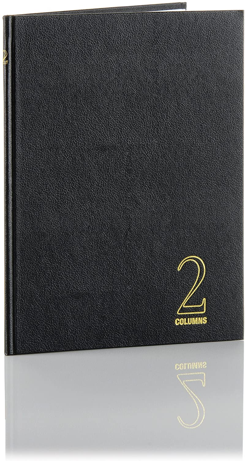 Wilson Jones Hardbound Accounting Journal, 9.25 x 7 Inches, 2 Columns, 80 Pages, 30 Lines per Page, Black (W74102A)