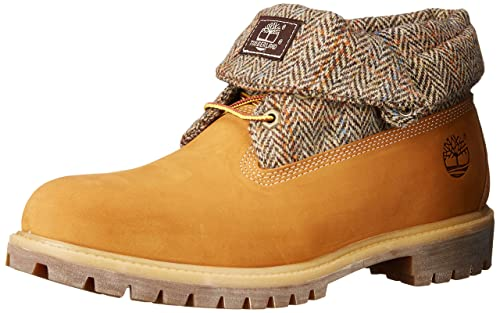 half off dfec2 31091 Timberland Men s Roll Top Fabric Winter Boot, Wheat Nubuck Harris Tweed, 9  M US  Amazon.ca  Shoes   Handbags