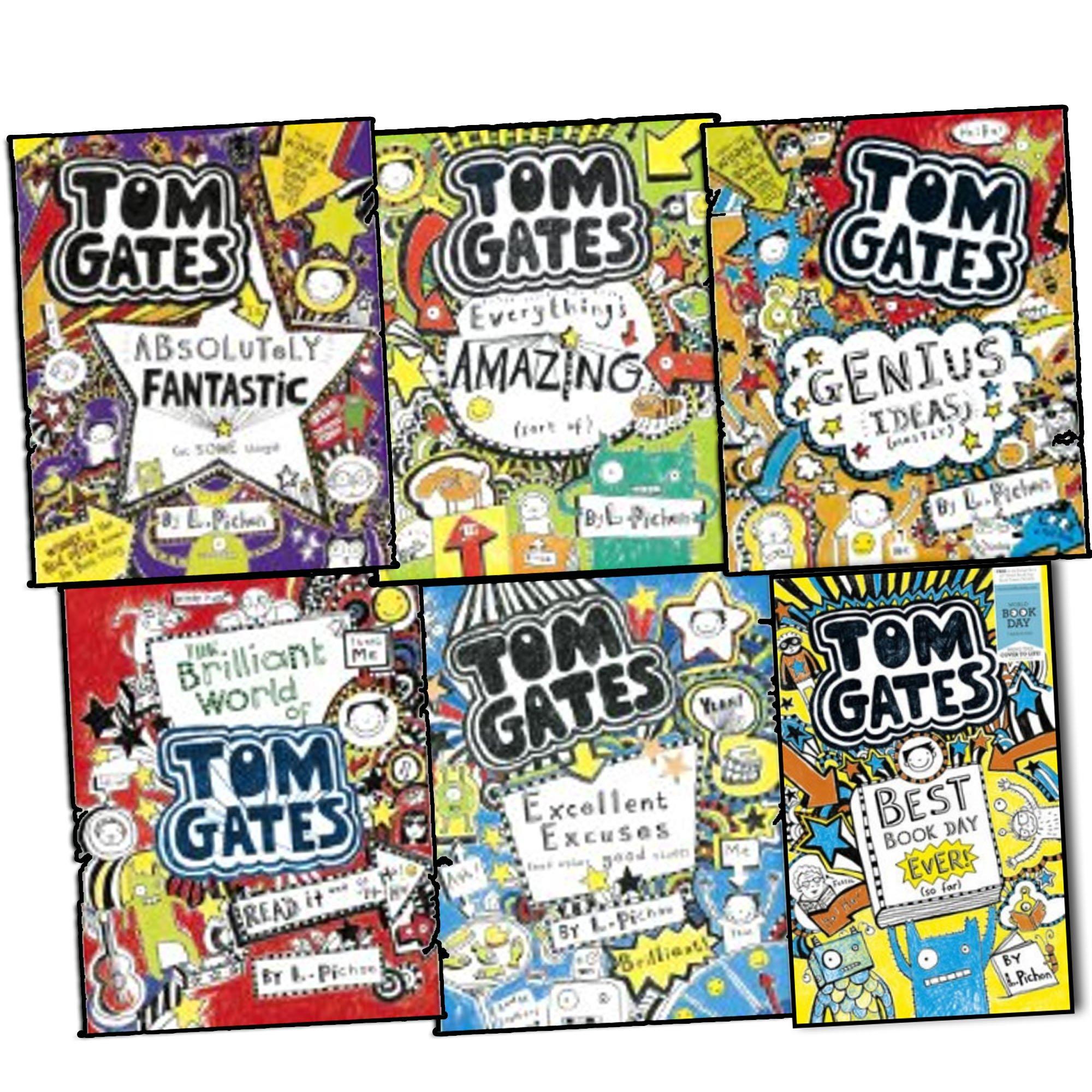 Liz Pichon Tom Gates 6 Books Collection Set Pack RRP 35.95 Genius ...