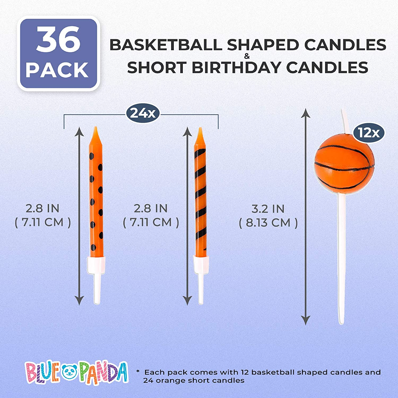 Candles & Holders Home & Kitchen Blue Panda Basketball Shaped ...