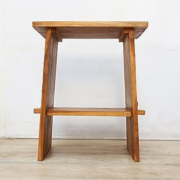 Oriental Galerie Waschtisch B Ware Holz Waschbeckenunterschrank Tisch  Badmöbel Badezimmermöbel Teakholz Gäste WC Hellbraun 60