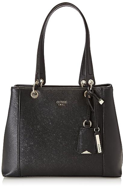 59975885b378 Guess Hwvg6691360, Women s KAMRYN SHOPPER Bag, Nero, 15x26.5x42 cm ...