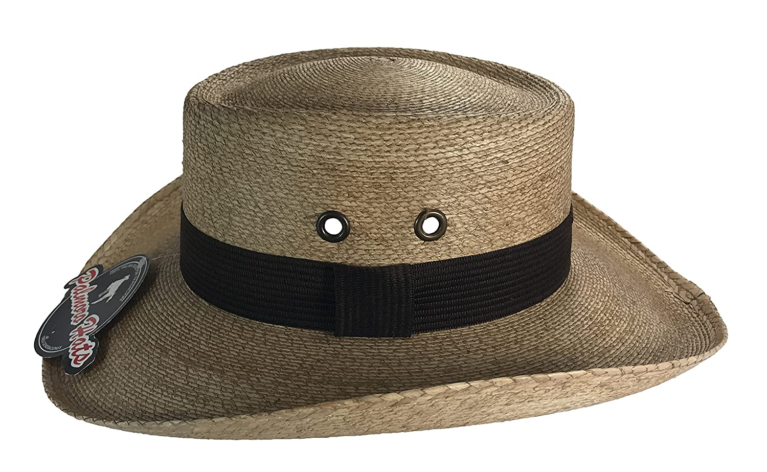 a22a53cc5a16e Palmoro The Original Golf Gambler Moreno Palm Straw Sun Hat at Amazon Men s  Clothing store
