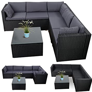 garten lounge m bel grau. Black Bedroom Furniture Sets. Home Design Ideas