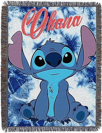 Lilo Stitch Throw Blanket 48 X 60 Multi Color 100 Polyester Tapis Mural Tisse Au Point De Shibori Standard Amazon Fr Cuisine Maison