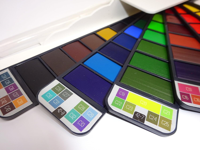 Set di acquerelli –  42 colori professionale | High Grade Italian Paint pigmenti | leggero e portatile | pennello incluso Cambridge Art Supplies