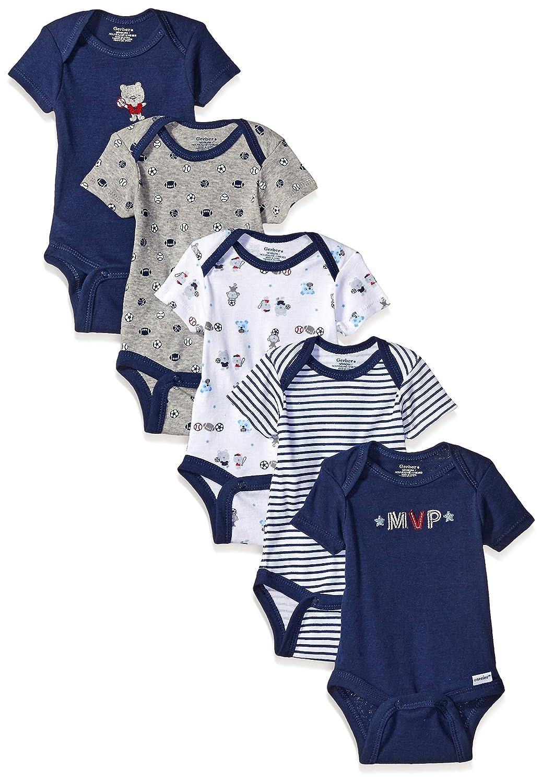 Gerber Baby Boys 5-Pack Variety Onesies Bodysuits