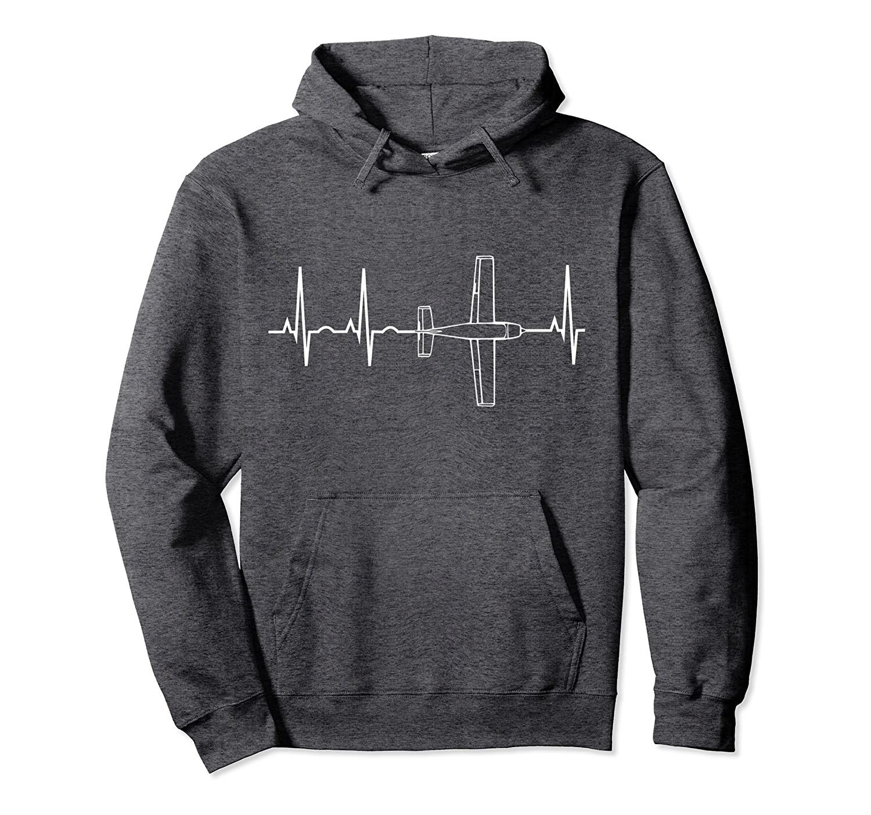 Airplane Pilot Shirt Pilot Heartbeat Hoodie Flying Shirt-Teechatpro