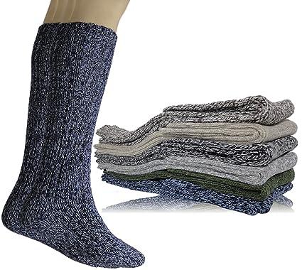 93c03baca1431 Sweetcocooning Lot de 3 paires Chaussettes en laine 48% Homme. Modèle mi  bas longues