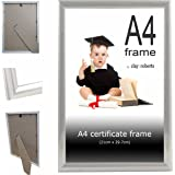Clay Roberts A4 Silver Photo Frame, Picture Frame, Certificate Frame, Freestanding and Wall Mountable