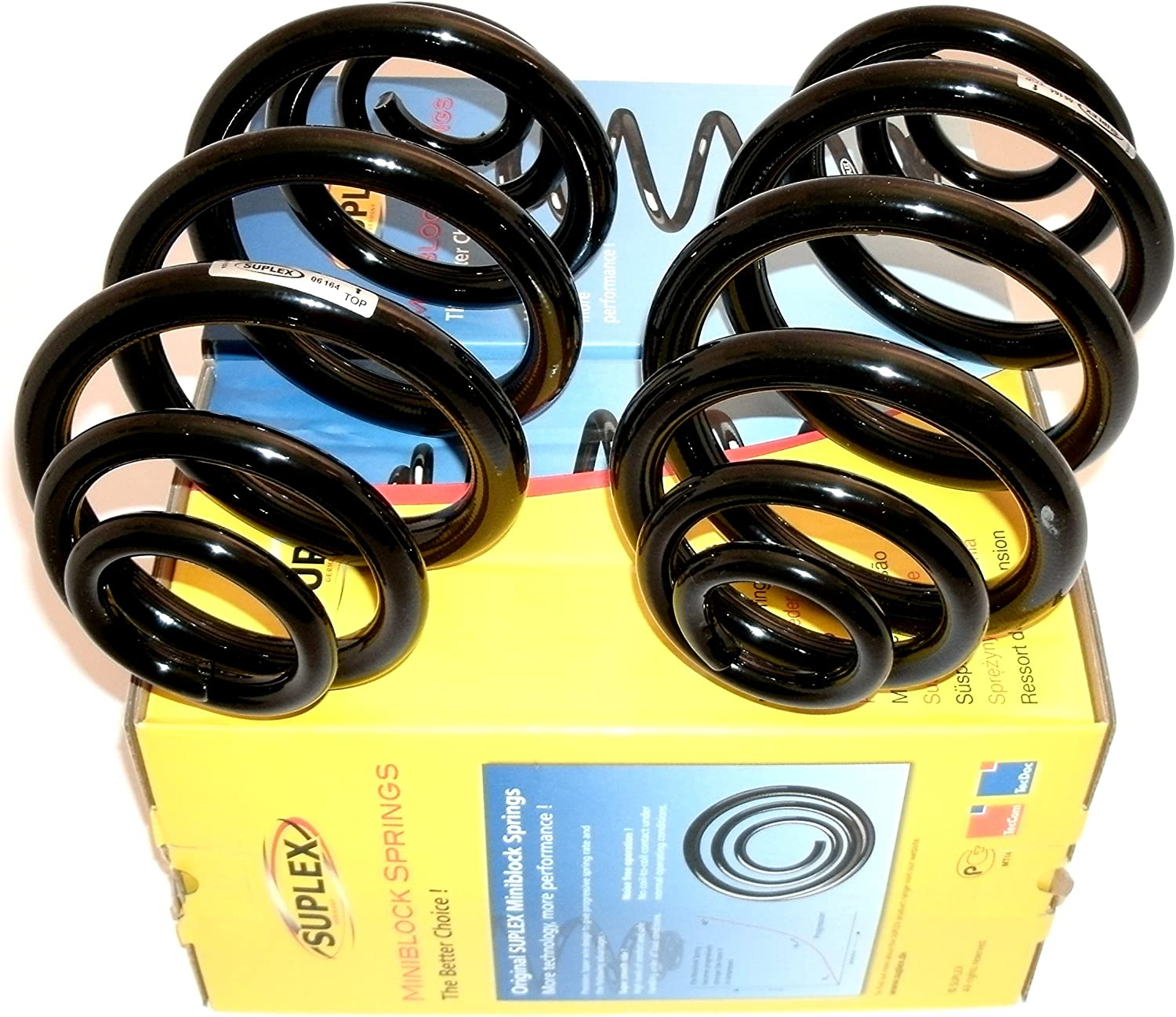 For BMW E46 Set of Rear Left /& Right Standard Susp Coil Springs+Shims Suplex