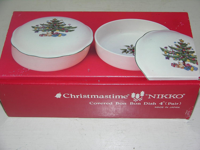 Amazon.com   Nikko Christmastime Covered Bon Bon Dish - Set of 2 ...