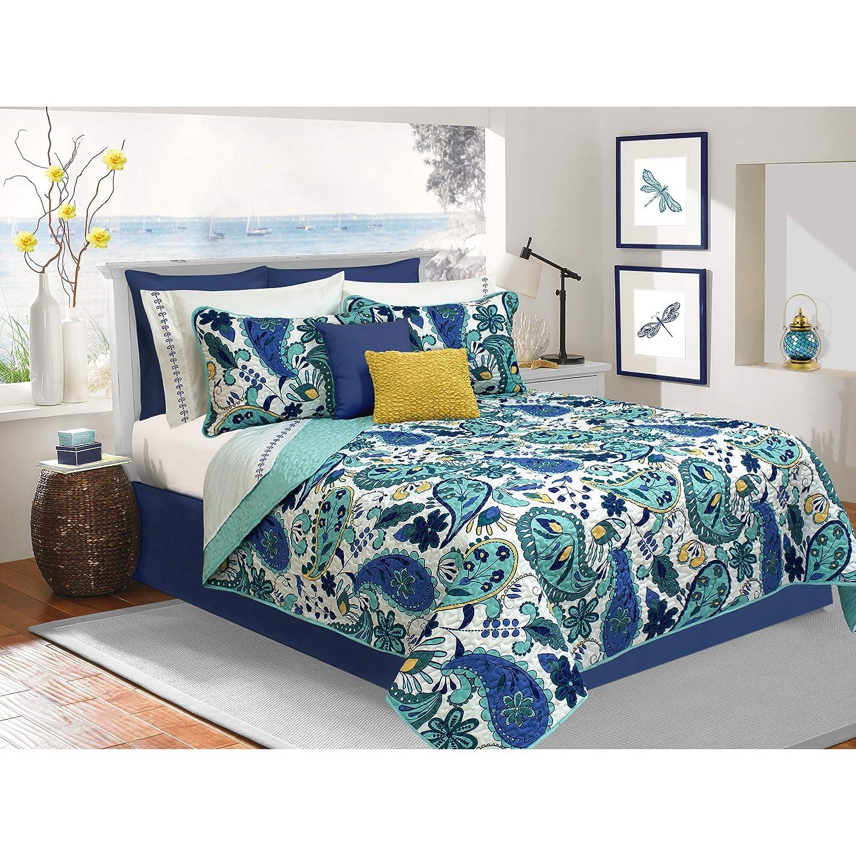 Safdie & Co. 60111.2T.36 Quilt Set Twin Blue