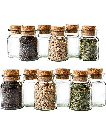MamboCat – Juego de 12 tarros de especias, 150 ml, 60 mm de diámetro