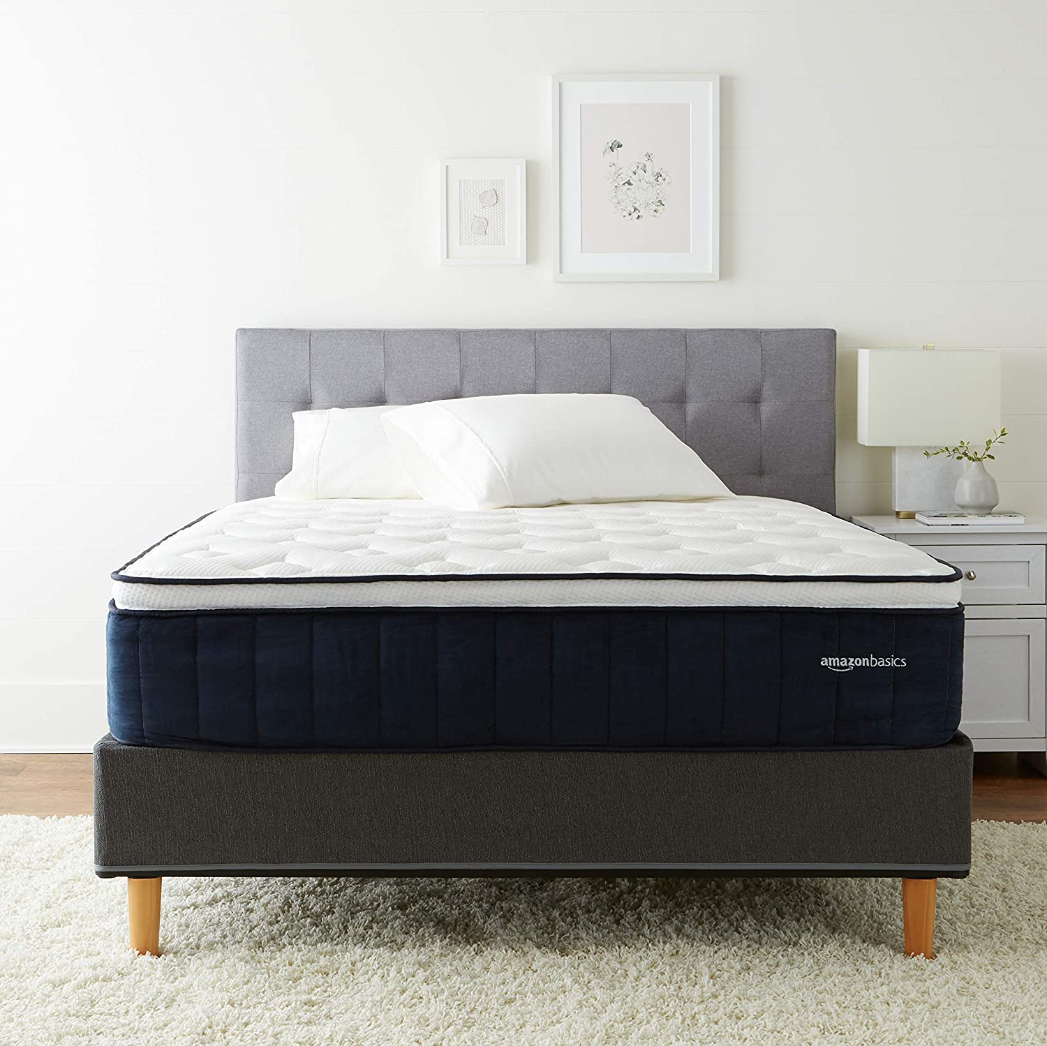 AmazonBasics Signature Hybrid Eurotop Mattress - Medium Feel - Energex Foam for Deeper Support - Cool to Touch top Fabric - CertiPUR-US Certified - 13.5-inch, California King