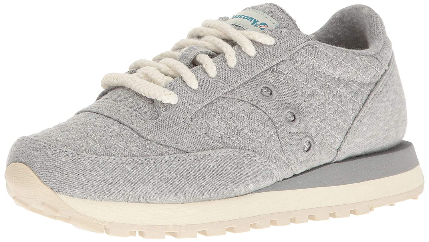 Saucony Originals Women's Jazz CL Cozy Sneaker B005BDY45I 9 B(M) US|Grey/Green