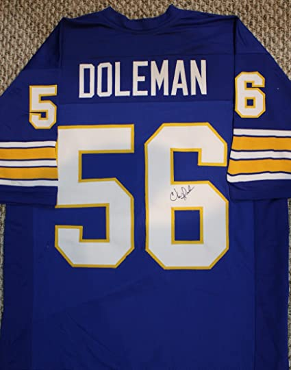 big sale 7578b b95b7 Autographed Chris Doleman Pitt Panthers Jersey with COA and ...