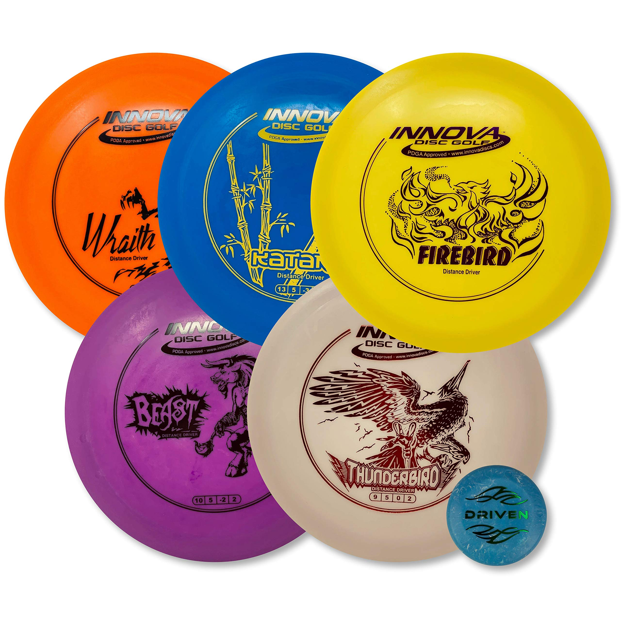 Driven Disc Golf - Advanced Players Pack (5 Disc Driver Set (Colors Vary))