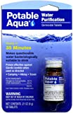 Potable Aqua Water Purification Germicidal Tablets - For Hiking, Camping, and Emergency Drinking Water