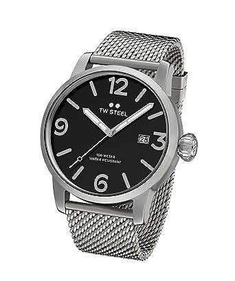 TW Steel Reloj Analógico para Unisex de Cuarzo con Correa en Acero Inoxidable MB11: Amazon.es: Relojes