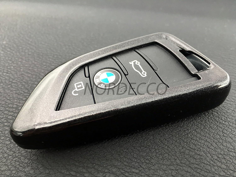 Nordecco Coque de protection en fibre de carbone 3//4 boutons pour cl/é intelligente BMW X1//4 M5 G05 X5 X7 F16 F39 F45 2 G01//02
