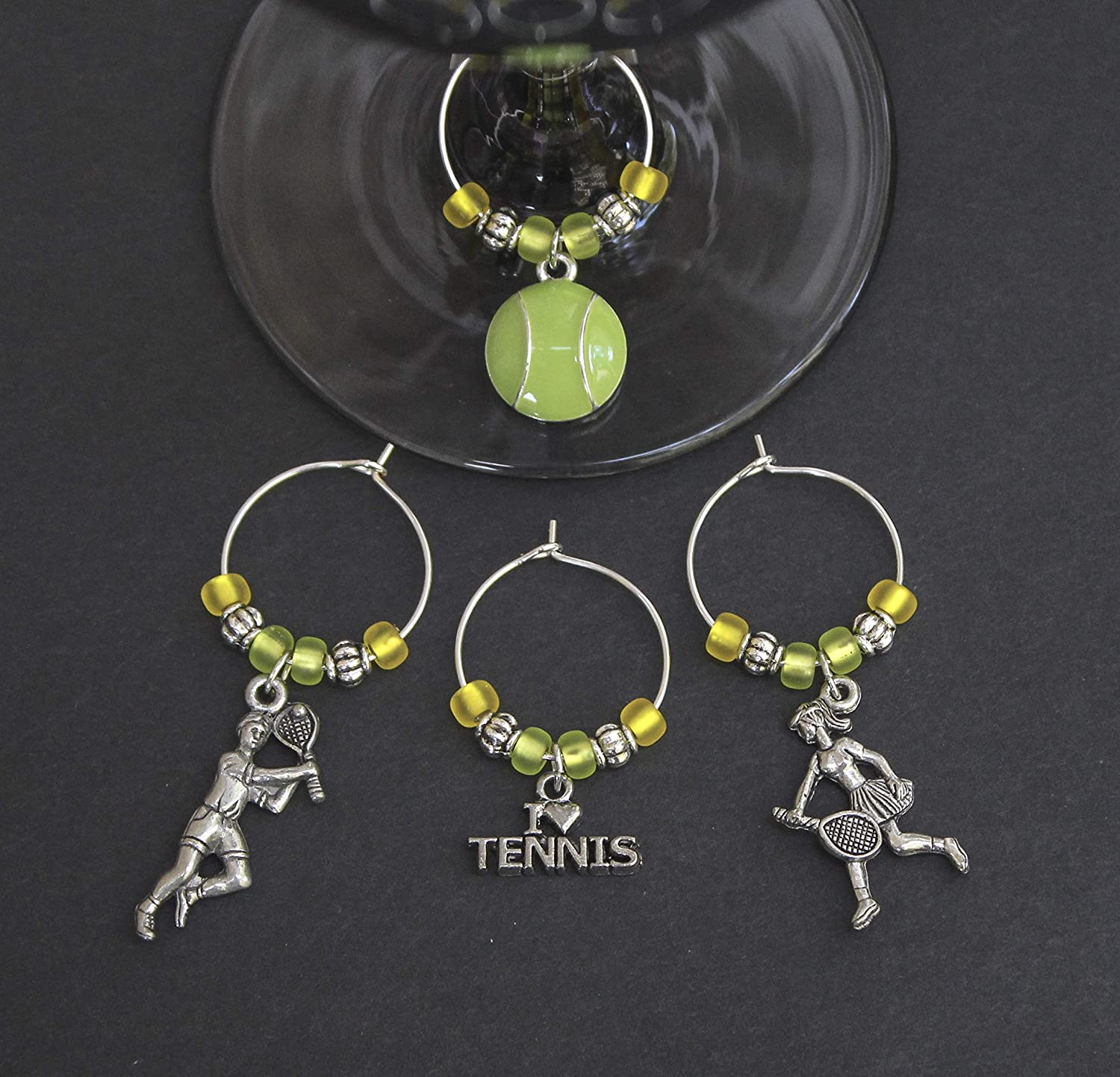 Metal Enamel Charms with Glass Beads Tennis Earrings