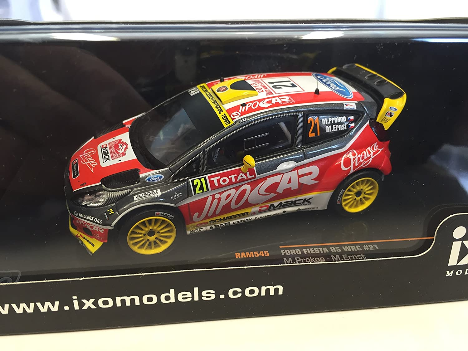 G/én/érique 1:43 Rally Car Ford Fiesta RS WRC Prokop Rally Monte Carlo 2013 1:43 IXO RAM545