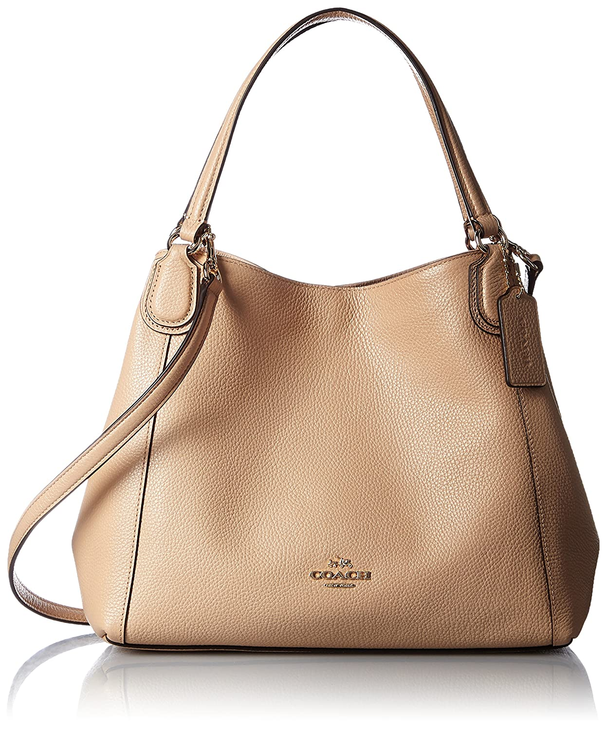 3cf07f69 Coach Edie Shoulder Bag 28 in Pebble Leather Color Light Gold ...