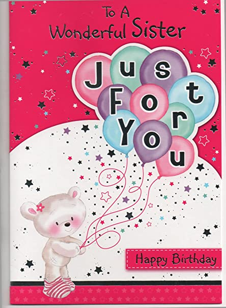 Maravilloso hermana, Just For You tarjeta de felicitación de ...