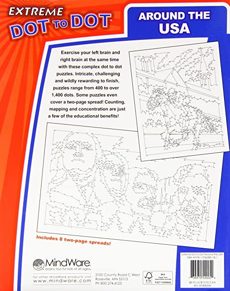 Amazon.com: Extreme Dot to Dot Around The USA Puzzle: Dave Koehler ...