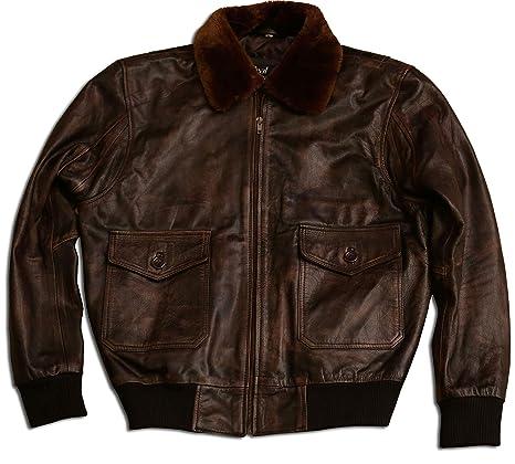 Amazon.com: Marvel de piel para hombre G-1 Air Force aviador ...