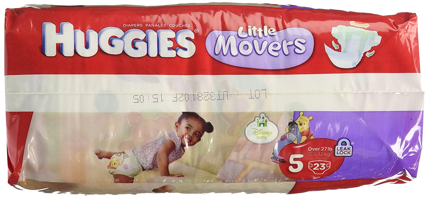 Huggies Diapers Little Movers Supreme Size 5 Jumbo Pack 23 Count: Amazon.com: Grocery & Gourmet Food