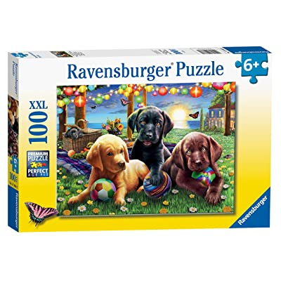 Ravensburger 12886 Puppy Picnic 100 Piece Puzzle for Kids - Every Piece is Unique, Pieces Fit Together Perfectly: Toys & Games