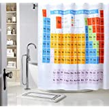 Amazon periodic table shower curtain eva vinyl the periodic table of elements chemistry student bathroom shower curtains waterproof mildew resistant polyester fabric urtaz Image collections