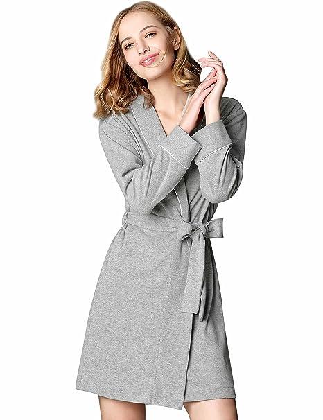 Lingerie, Sleep & Lounge Mamamiya Womens Soft Cotton Robe Kimono Bathrobe Sleeve Loungewear Sleepwear Cloth Robe Lingerie, Sleep & Lounge