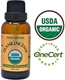 Organic Frankincense Essential Oil 30ml/1oz - USDA Certified - Boswellia Serrata 100% Natural Pure Undiluted Therapeutic Grade for Aromatherapy Scents Diffuser Anti Aging Relaxation Anxiety Relief