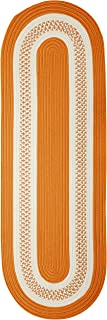 product image for Crescent Oval Area Rug, 2 by 4-Feet, Orange