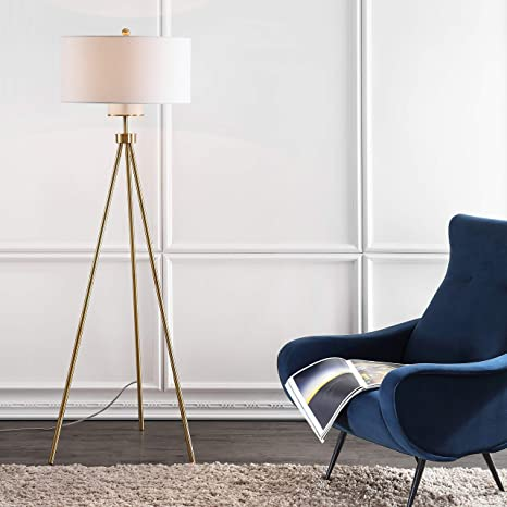 Safavieh Fll4008a Lighting Collection Enrica 66 Brass And Gold Floor Lamp