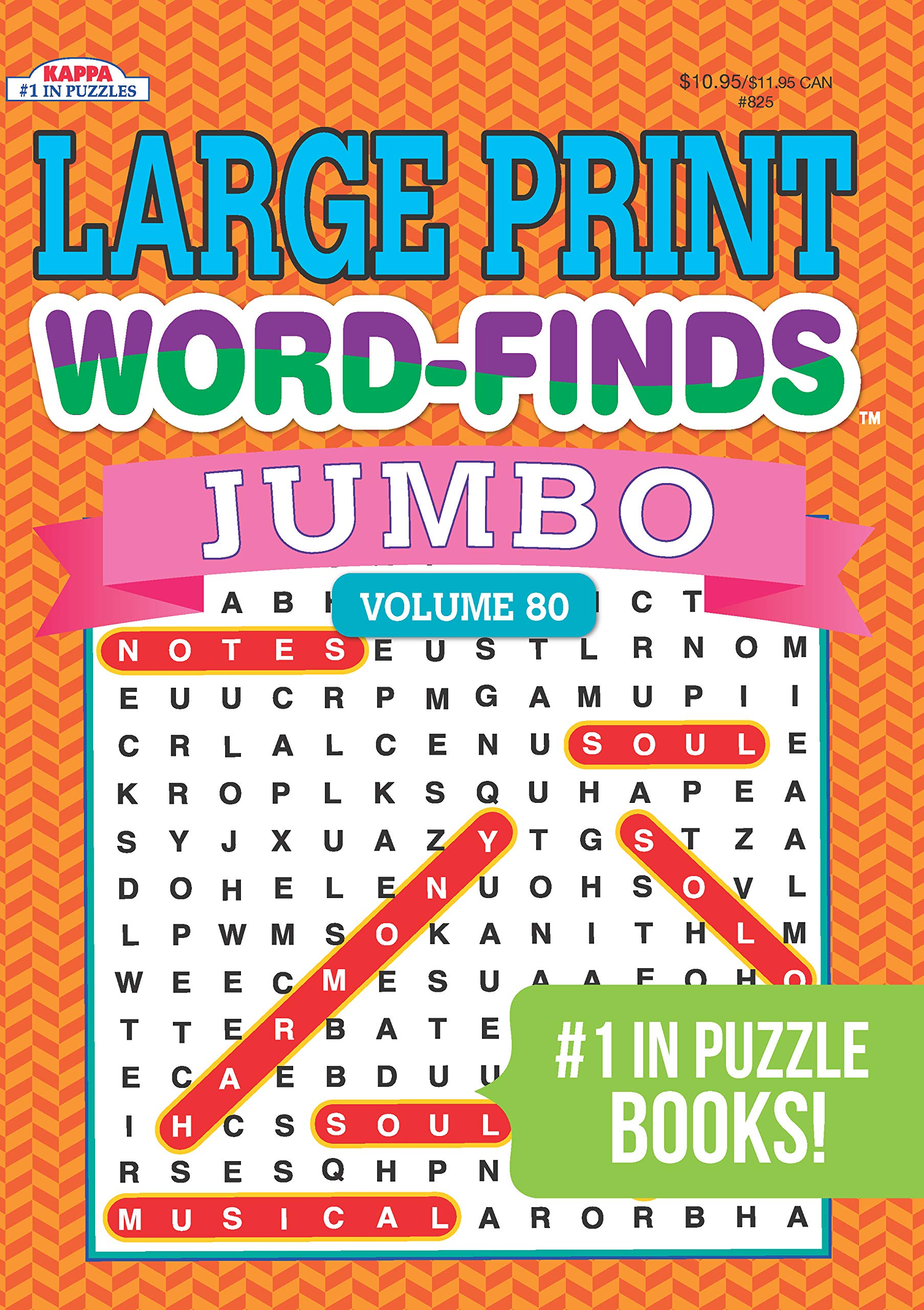 - Jumbo Large Print Word-Finds Puzzle Book-Word Search Volume 80
