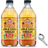 Bragg Organic Apple Cider Vinegar With the Mother– USDA Certified Organic – Raw, Unfiltered All Natural Ingredients, 16 Fl Oz