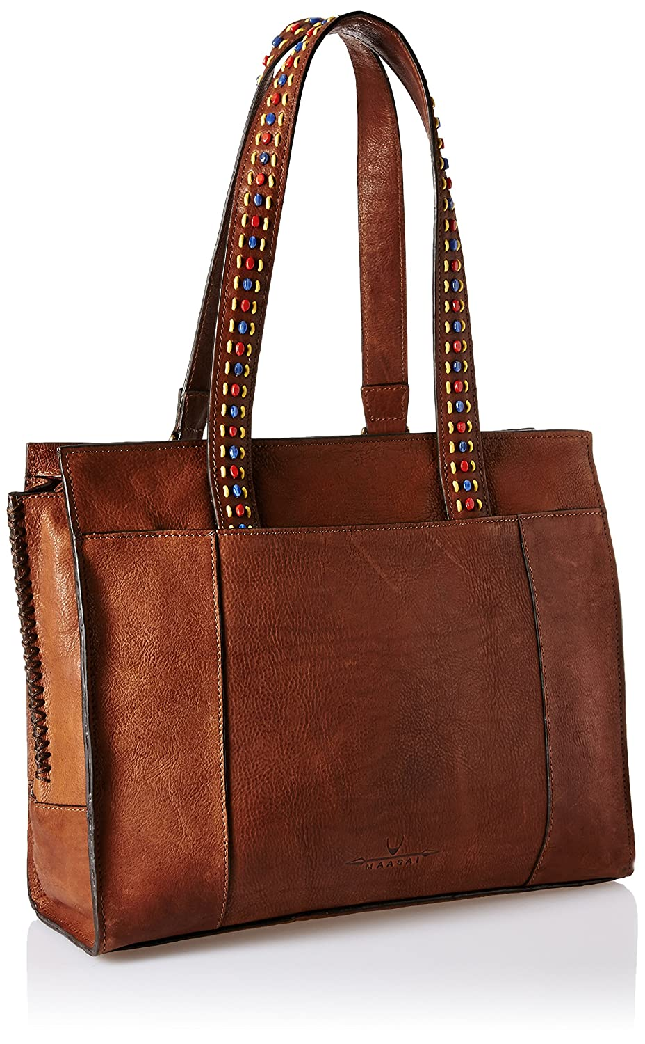 c03215a1744 Hidesign Maasai Women s Tote Bag (Tan)  Amazon.in  Shoes   Handbags