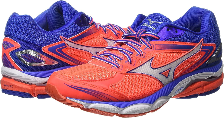 Mizuno J1GD160902, Zapatillas de Running Mujer, Pink (Fiery Coral/White/Dazzling Blue), 36 EU: Amazon.es: Zapatos y complementos