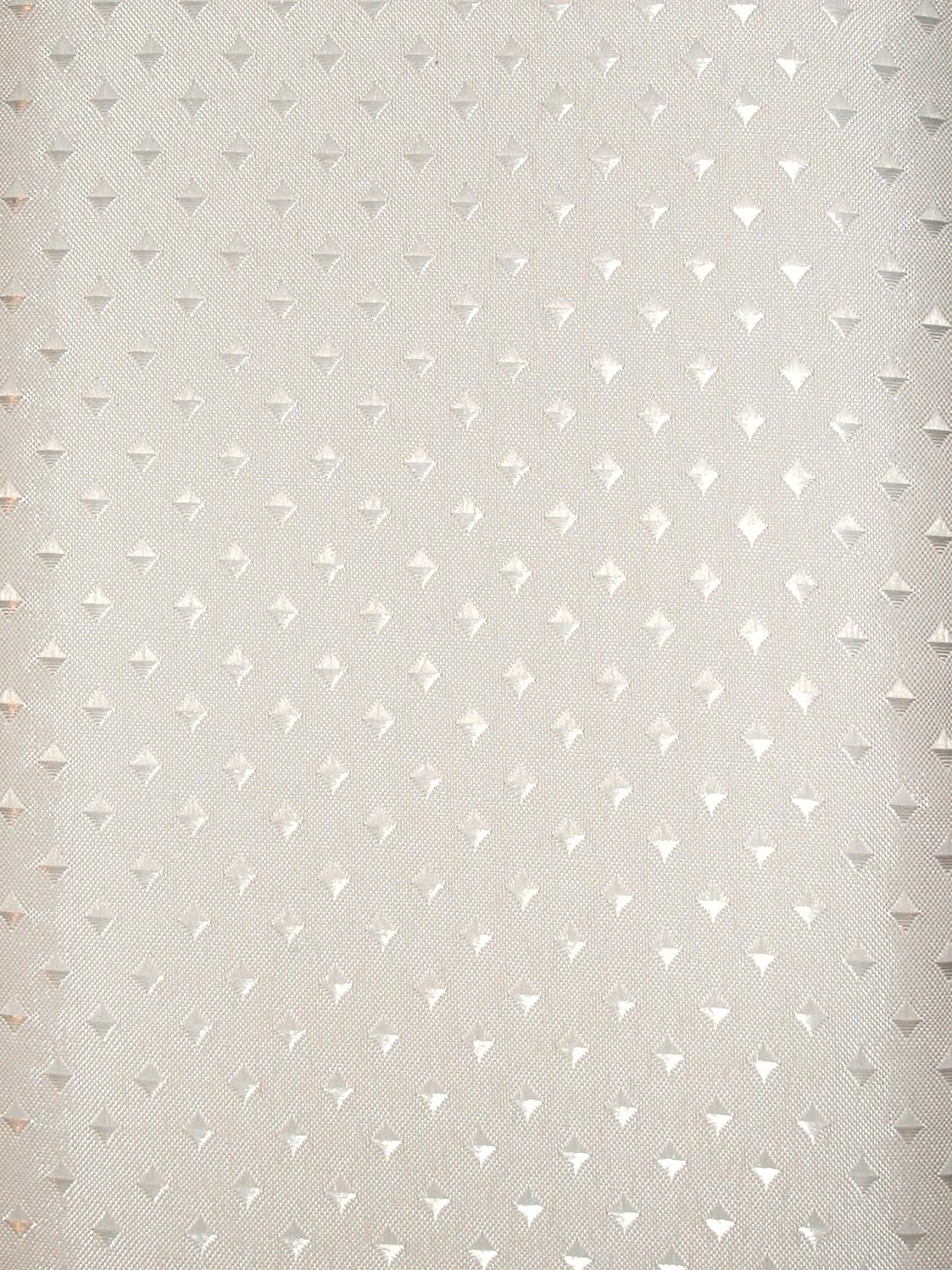 High Quality Fabric Shower Curtain size: 240cm Extra wide x 180cm long- White with small satin Diamond Pattern - White - Weighted Hem Euroshowers
