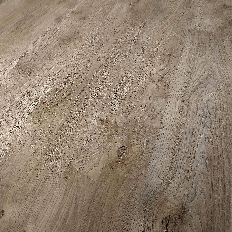 TRECOR Klick Vinylboden LVT-//Designboden Massivdiele 5 mm stark mit 0,5 mm Nutzschicht WASSERFEST - Sie kaufen 1 m/² Vinylboden, Kamala