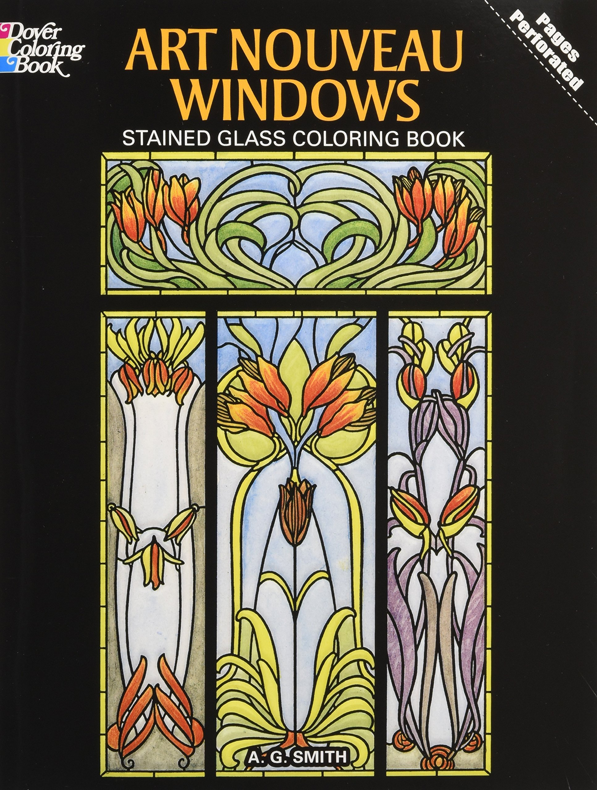 - Art Nouveau Windows Stained Glass Coloring Book (Dover Design