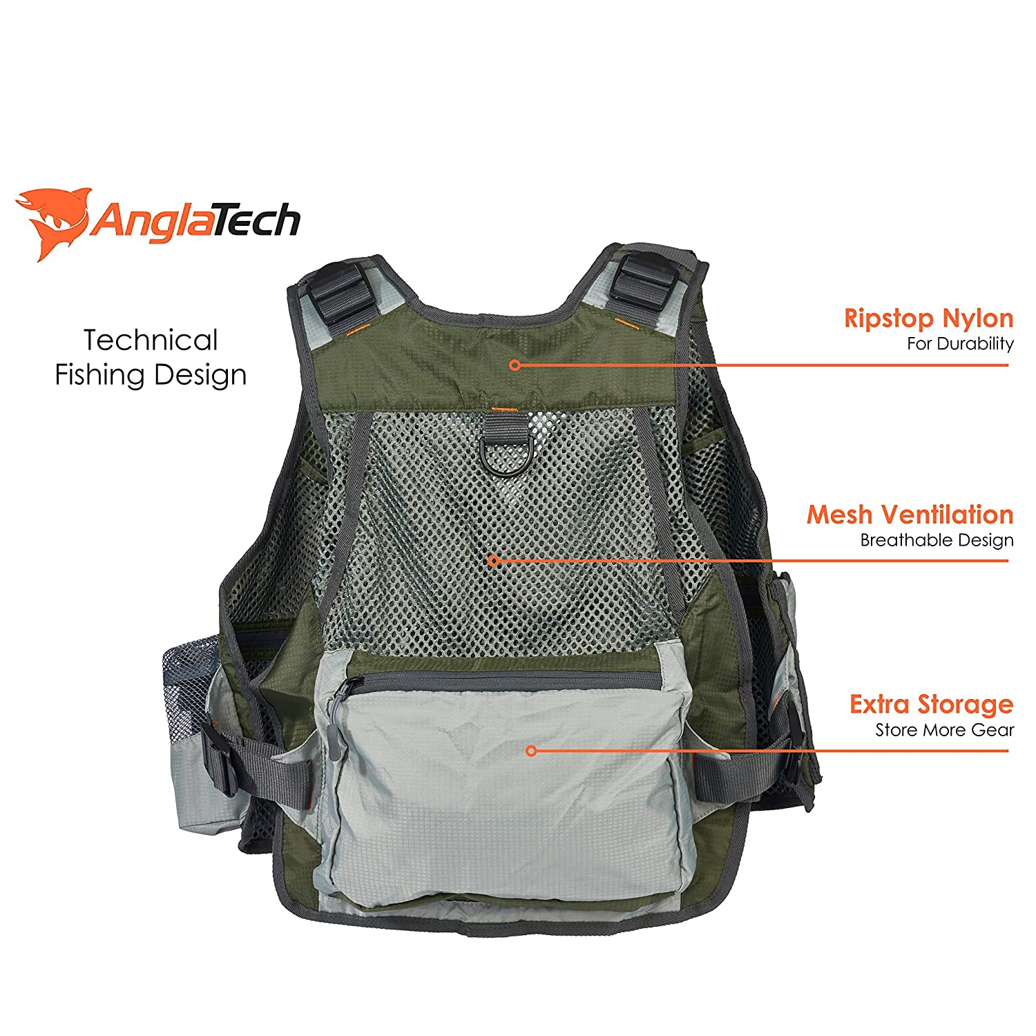 Anglatech mesh fly fishing vest mesh fishpond new for Fly fishing gear
